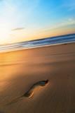砂浜に残る足跡 - 177062561