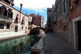 venice, small pedestrian bridge l