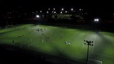 aerial soccer games takeing place at night 4k - 177066761
