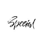 Special design. Ink handwritten lettering. Modern dry brush calligraphy. Typography poster design. Vector illustration. - 177069764