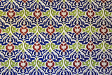 Geometric decoration of Islamic architecture. Traditional uzbek ornament on the wall of mosque