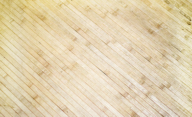 Tatami bamboo mat on floor