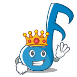 King Music Note Character Cartoon - 177075921