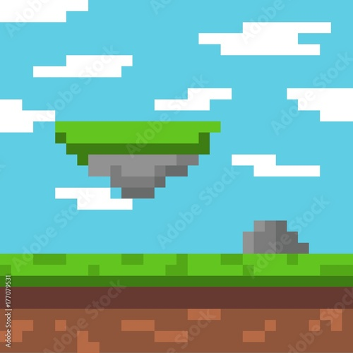 Papiers peints Piscine Background pixel art
