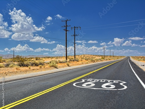 U.S. Route 66 highway. Poster