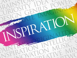 Inspiration word cloud collage, creative business concept background - 177083324