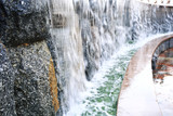 Stream from a fountain close-up - 177090756