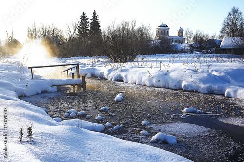 Papiers peints Gris traffic Frozen pond in the ice