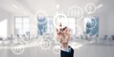 Teamwork concept and choosing gesture of businessperson in elega - 177090935