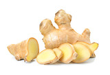 ginger herb on white background - 177103359