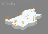 Map Bulgaria isometric concept. - 177104954