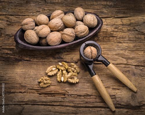 walnut and nutcracker