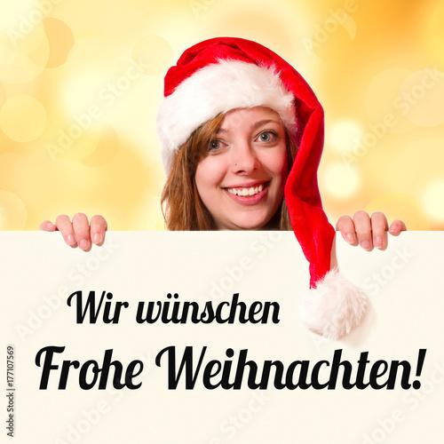 Wir wünschen Frohe Weihnachten Poster