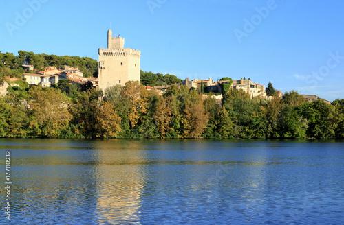 La tour Philippe-le-Bel sur le Rhône Poster