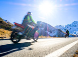 motorbike at the grossglockner mountain