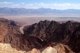 Adventure hike and scenic landscape in Eilat Mountains near Jordan border. - 177117510