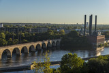 Bridges on Mississippi river in downtown Minneapolis, Minnesota, USA - 177118502