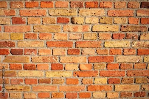 Tuinposter Baksteen muur Ziegelwand Hintergrund Textur