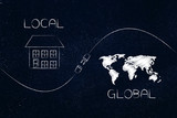 global and local with plug in between