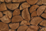 Wooden wall from group of beechwood with cross-section - 177132302
