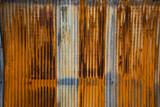 Old rusty zinc wall, - 177133736