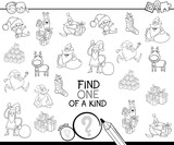 Xmas one of a kind game coloring book - 177134112