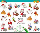 Christmas one of a kind cartoon game - 177134138