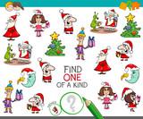 Christmas one of a kind cartoon activity - 177134183
