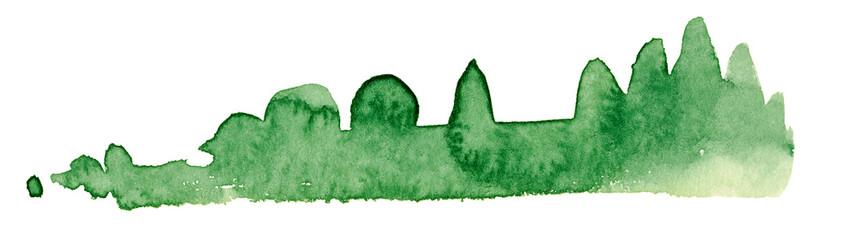bushy watercolor painting © PRILL Mediendesign