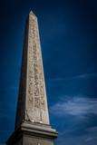 Egyptian Luxor obelisk with hieroglyphics. Place de la Concorde. Paris, France. - 177139355