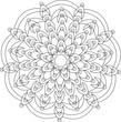 Mandala vector for coloring book - 177143171