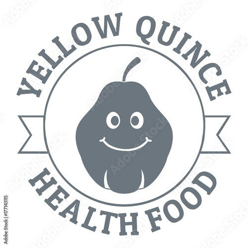 Yellow quince logo, vintage style