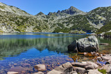 Amazing landscape with Valyavishki lakes and Dzhangal peak, Pirin Mountain, Bulgaria - 177143351