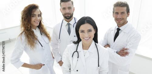 Fototapeta group of medical workers portrait in hospital