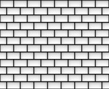 3d rendering. white and black rectangle shape line pattern wall background - 177153533
