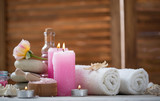 Beautiful composition of spa treatment