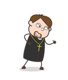 Smiling Priest Running Pose Vector Illustration - 177157784