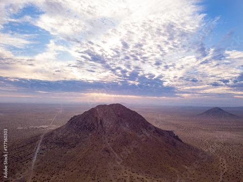 Foto op Plexiglas Chocoladebruin Desert Mountain