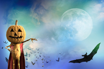 Pumpkinhead background on Halloween