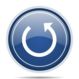 Rotate blue round web icon. Circle isolated internet button for webdesign and smartphone applications. - 177169167