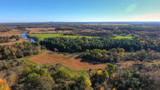 Aerial View of Farmlands in Fall  - 177177977