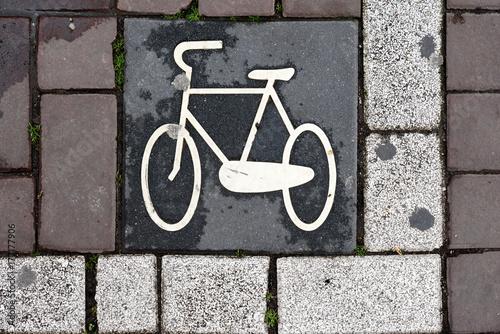 Kennzeichnung für Fahrradparkplätze Poster