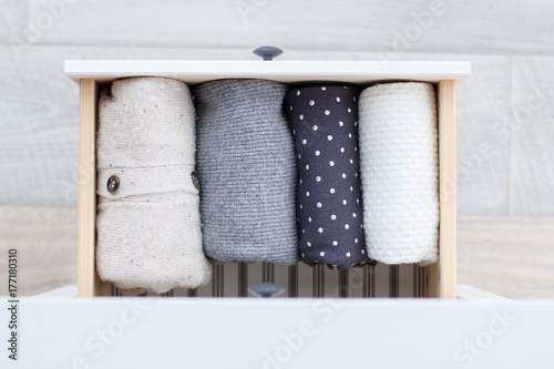 warm clothes in the dresser Poster