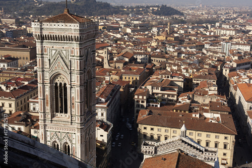 Florence. City landscape. places of Interest. Attractions. Poster