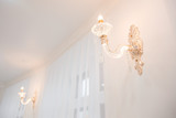 Electric Candle Lamp. White the interior walls. - 177184727