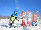 Fototapety Kids in winter time