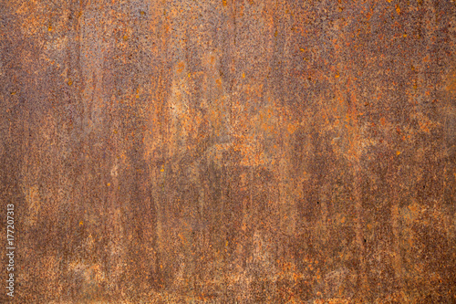 Leinwanddruck Bild Rusted steel as texture and background