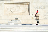 Tsolias or known as Evzones is Greeces historic presidential guard Syntagma.Tsarouhi is a type of shoe, which is typically known as part of the traditional uniform by the Greek guards - 177209340