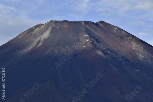 雪の無い秋の富士山頂付近 Poster