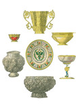 Royal plates, bowls and cups. - 177225936